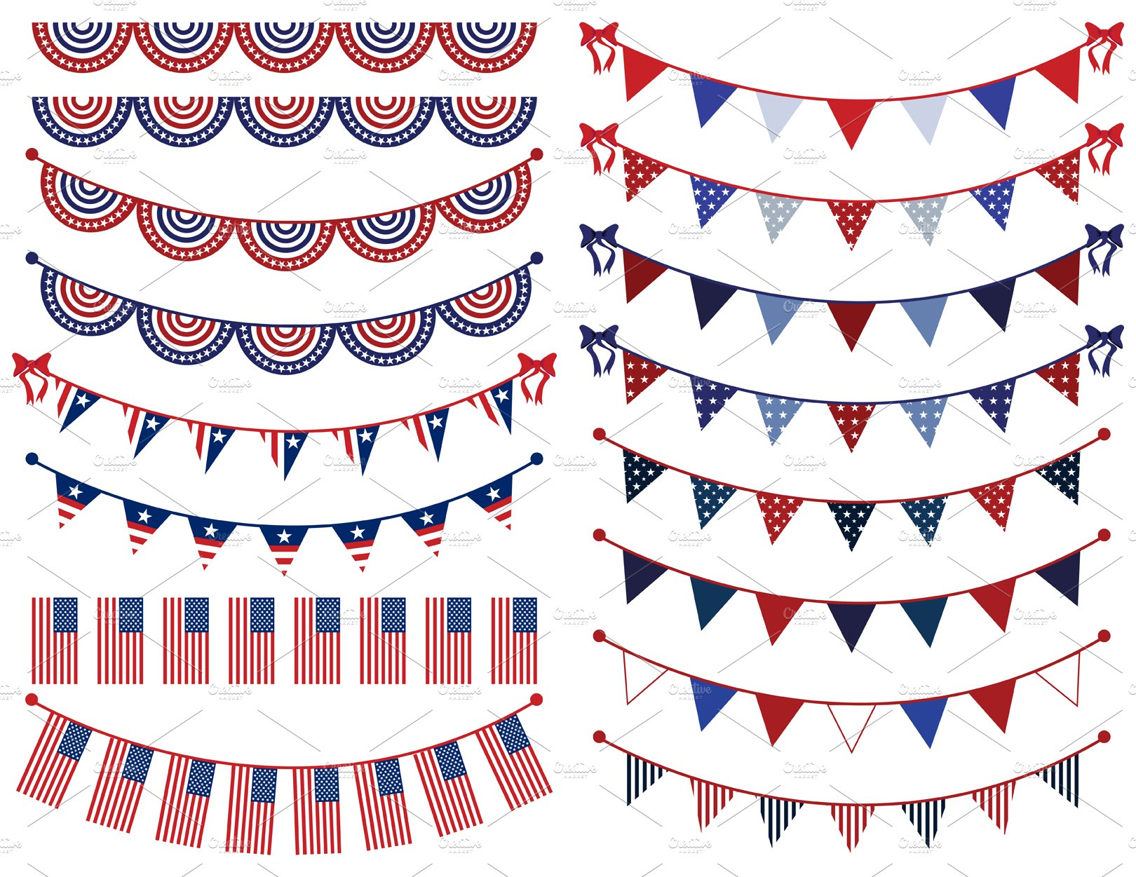It's just an image of Agile Patriotic Banner Clipart