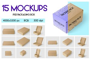 15 PSD Packaging Box Mockups