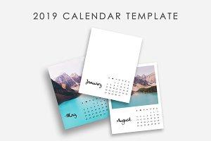 2019 Photo Calendar Template