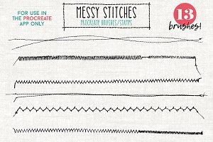 Procreate Stitches Stamp Brush Pack