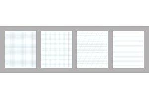 School notebook vertical paper sheet