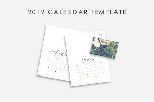 Classic Calendar Template 2019