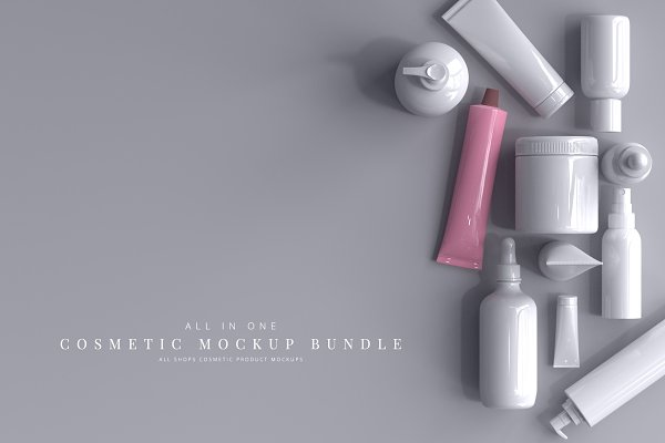 Product Mockups: pmvch - Cosmetic Product Mockup Bundle