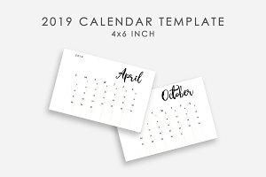 2019 Calendar Template Minimalist