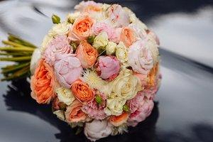 Wedding beautiful bridal bouquet of