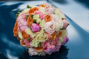 Wedding beautiful bridal bouquet of