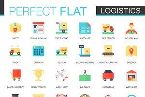 Logistics transportation icons.