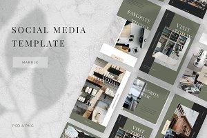 Marble - Social media template