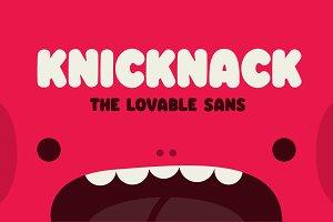 Knicknack - The lovable sans serif
