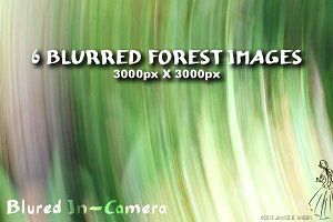 6 Motion Blur Textures: Forest Set 1