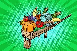 autumn harvest in a wooden farm