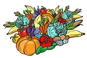 big autumn harvest, vegetarian