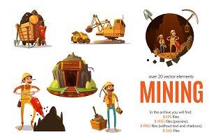 Mining Cartoon Set