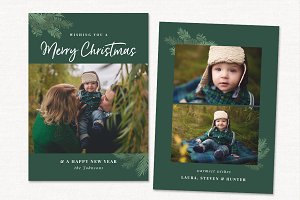Christmas Card Template CC213