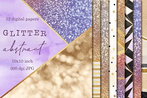 Glitter abstract digital papers