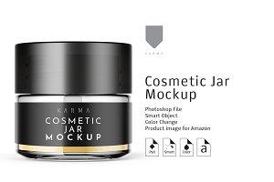 Cosmetic Glass Jar Mockup 1