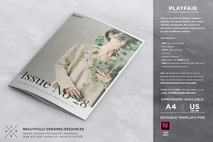 Playfair Magazine Template