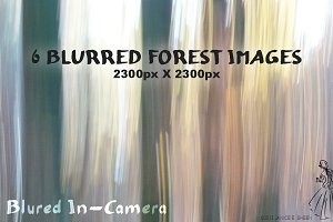 6 Motion Blur Textures: Forest Set 3
