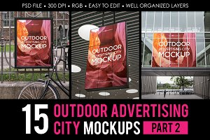 Outdoor Advertising City Mock-Up V2
