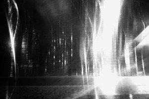 Black and white night future city st