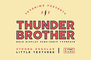 Thunderbrother - Sans-Serif Typeface
