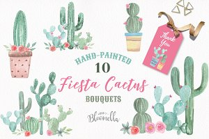 Cactus Watercolor Painted Clipart
