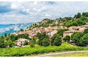 Aiguines village in Provence, France