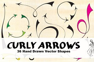36 Hand Drawn Vector Arrows
