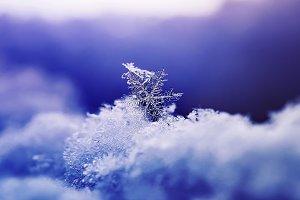 festive new year snowflake