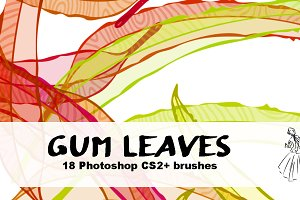 18 Gum Leaf Brushes