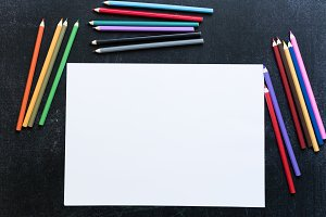 Blank paper list with coloured