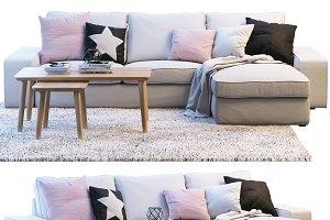 Ikea KIVIK sofa with chaise longue