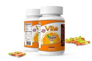 Pills Botle Vitamin