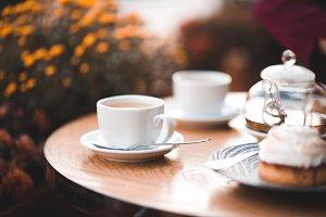 Morning tea in cafe