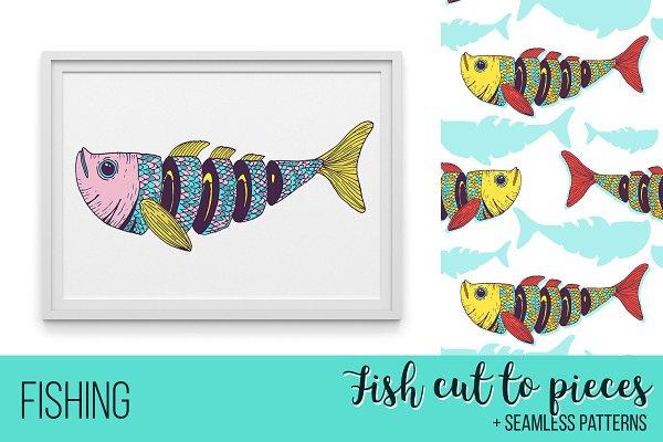 Fishing poster design