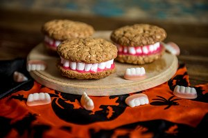 Dracula Dentures for Halloween made