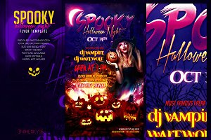 Spooky Halloween Night Flyer