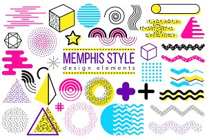 Graphic elements, Memphis style