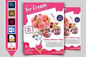 Ice Cream Shop Flyer Template Vol-01