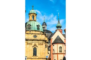 Churches in the old town of Wurzburg