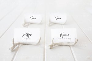 Wedding Escort Card Mockup