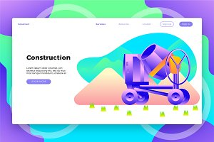 Construction Mixer - Landing Page