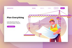 Construction Site - Landing Page