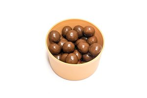 Chocolate candy in a bowl