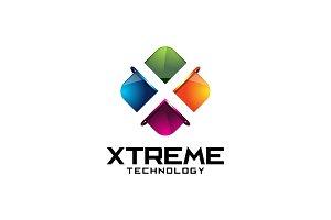 Extreme Tech - 3D Letter X Logo