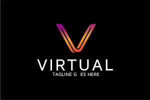 Virtual - Letter V Logo Template