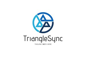 Triangle Sync Logo Template