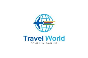 Travel Around World Logo Template
