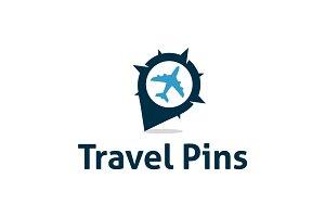 Travel Pin Location Logo Template