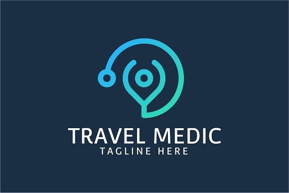 travel medic logo template logo templates creative market